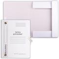 Папка для бумаг с завязками картонная мелованная BRAUBERG (БРАУБЕРГ), гарантированная плотность 320 г/м, до 200 листов