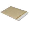Конверт-пакет В4 плоский, 250х353мм, из крафт бумаги с отр.полосой, на 140л, 380090