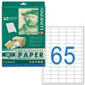 Этикетка самоклеящаяся LOMOND на листе формата А4, 65 этикеток, размер 38-21,2 мм, белая, 50 л.