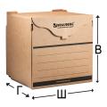 Короб архивный BRAUBERG (БРАУБЕРГ), 34-33-31 см, для регистраторов, накопителей, фронтальная загрузка, липучка, бурый