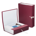 Короб архивный, бумвинил, 7 см, 2 х/б завязки, цвет ассорти, до 600 л.