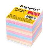 Блок для записей BRAUBERG непроклеенный, куб 9*9*9 см, цветной, 122341