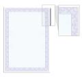 Сертификат-бумага для лазерной печати BRAUBERG А4, 25 листов, 115 г/м, Голубая сеточка, 122618
