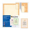 Сертификат-бумага для лазерной печати BRAUBERG А4, 25 листов, 115 г/м, Оранжевый интенсив, 122625