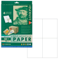 Этикетка самоклеящаяся LOMOND на листе формата А4, 4 этикетки, размер 105-148,5 мм, белая, 50 л.