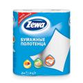 Полотенца бумажные быт., спайка 2 шт., 2-х слойные, (2х14 м), ZEWA, белые, 144001, ш/к 34302