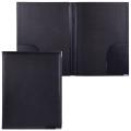 Папка адресная из кожзама без надписи, 33-25-2 см, черный