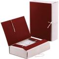 Папка для бумаг архивная, 120 мм, бумвинил, корешок - коленкор, 4 х/б завязки