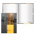 Блокнот BRAUBERG (БРАУБЕРГ) А6, 110-147 мм, 80 л., «Ночной город», твердая ламинированная обложка, выборочный лак, клетка