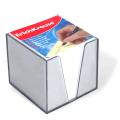 Блок для записей ERICH KRAUSE в подставке прозрачной, куб 9-9х9, белый