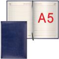 Ежедневник BRAUBERG (БРАУБЕРГ) недатированный, А5, 148-218 мм, «Imperial» («Империал»), «гладкая кожа», 160 л., темно-синий