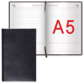 """Ежедневник BRAUBERG недатированный А5 138*213мм """"Select"""", под зернистую кожу, 160л., черный, 123429"""