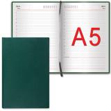 """Ежедневник BRAUBERG недатированный А5 138*213мм """"Select"""", под зернистую кожу, 160л., зеленый, 123431"""