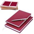 Набор GALANT «Стандарт» (ИТАЛИЯ-РОССИЯ): ежедневник А5, телефонная книга А5, ручка; бордовый