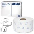 Бумага туалетная 170м, TORK (Система Т2) КОМПЛЕКТ 12шт, Premium, 2-сл, белая, 120243