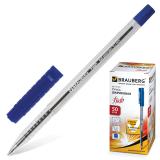 Ручка шариковая BRAUBERG Flash, корпус прозрачный, узел 0,7мм, линия 0,35мм, синяя, 141031