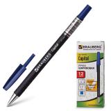 Ручка шариковая BRAUBERG Capital, корпус soft-touch черный, 0,7мм, линия 0,35мм, синяя, 141170