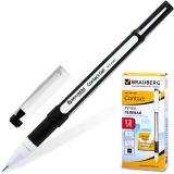 Ручка гелевая BRAUBERG Contact, корпус черный, игольчатый узел 0,5мм, линия 0,35мм, черная, 141185