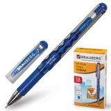 Ручка гелевая BRAUBERG Equalizer, корпус серебристый, игольч.узел 0,5мм, линия 0,35мм, синяя, 141196