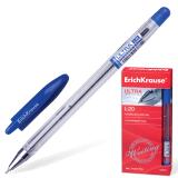 Ручка шариковая масляная ERICH KRAUSE Ultra L-20, корпус прозрачн., 0,7мм, линия 0,35мм, синяя,13875