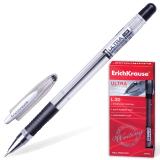 Ручка шариковая масляная ERICH KRAUSE Ultra L-30, корпус прозрачн., 0,7мм, линия 0,35мм,черная,19614