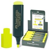 """Текстмаркер FABER-CASTELL """"1548"""", скошенный наконечник 1-5мм, флюор. желтый, FC154807"""