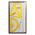 Набор чертежный  для классной доски, (2 треугольника, транспортир, циркуль, указка), BOARDSYS, КИК