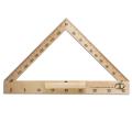 Транспортир для классной доски (транспортир классный) деревянный 40 см, 180 градусов, С176