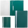 Скоросшиватель пластиковый BRAUBERG (БРАУБЕРГ), зеленый, 0,18мм
