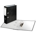 Папка-регистратор BRAUBERG (БРАУБЕРГ) «Стандарт» с мраморным покрытием, 80 мм, черный корешок