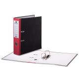 Папка-регистратор BRAUBERG (БРАУБЕРГ) «Стандарт» с мраморным покрытием, 80 мм, красный корешок