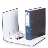 Папка-регистратор BRAUBERG (БРАУБЕРГ) «Стандарт» с мраморным покрытием, 80 мм, синий корешок