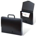 Портфель пластиковый BRAUBERG «Energy» (БРАУБЕРГ «Энерджи»), А4, 256-330 мм, без отделений, черный