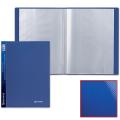 Папка 60 вкладышей BRAUBERG (БРАУБЕРГ) «Диагональ», темно-синяя, 0,9 мм