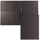 Папка с металлическим скоросшивателем и внутренним карманом BRAUBERG Диагональ, черная, до 100 листов, 0,6мм, 221351