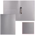 Папка с боковым металлическим прижимом и внутренним карманом BRAUBERG Диагональ, серебр, до 100лист, 0,6мм,221358