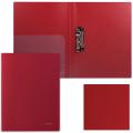 Папка с боковым металлическим прижимом и внутренним карманом BRAUBERG (БРАУБЕРГ) «Диагональ», темно-красная, до 100 л., 0,6 мм