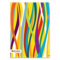 Папка-уголок BRAUBERG (БРАУБЕРГ), А4, разноцветные полосы, 0,18 мм