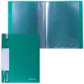 Папка 10 вкладышей BRAUBERG (БРАУБЕРГ) «Стандарт», зеленая, 0,5 мм