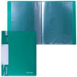 Папка  10 вкладышей BRAUBERG Стандарт, зеленая, 0,5мм, 221589