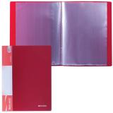 Папка  10 вкладышей BRAUBERG Стандарт, красная, 0,5мм, 221590