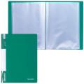 Папка 40 вкладышей BRAUBERG (БРАУБЕРГ) «Стандарт», зеленая, 0,7 мм
