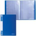 Папка 40 вкладышей BRAUBERG (БРАУБЕРГ) «Стандарт», синяя, 0,7 мм
