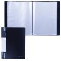Папка 80 вкладышей BRAUBERG (БРАУБЕРГ) «Стандарт», черная, 0,9 мм
