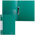 Папка 2 кольца BRAUBERG Стандарт, 25мм, зеленая, до 120 листов, 0,8мм, 221613