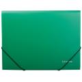 Папка на резинках BRAUBERG (БРАУБЕРГ) «Стандарт», зеленая, до 300 листов, 0,5 мм