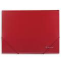 Папка на резинках BRAUBERG (БРАУБЕРГ) «Стандарт», красная, до 300 листов, 0,5 мм