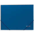 Папка на резинках BRAUBERG (БРАУБЕРГ) «Стандарт», синяя, до 300 листов, 0,5 мм