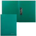 Папка с боковым металлическим прижимом BRAUBERG Стандарт, зеленая, до 100 листов, 0,6мм, 221627