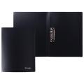 Папка с боковым металлическим прижимом BRAUBERG Стандарт, черная, до 100 листов, 0,6мм, 221630